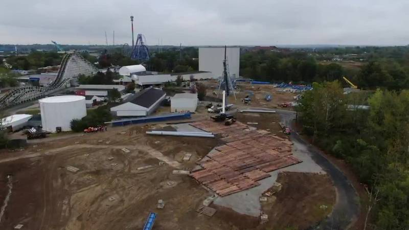 Last steel delivered for Kings Island's new Orion coaster