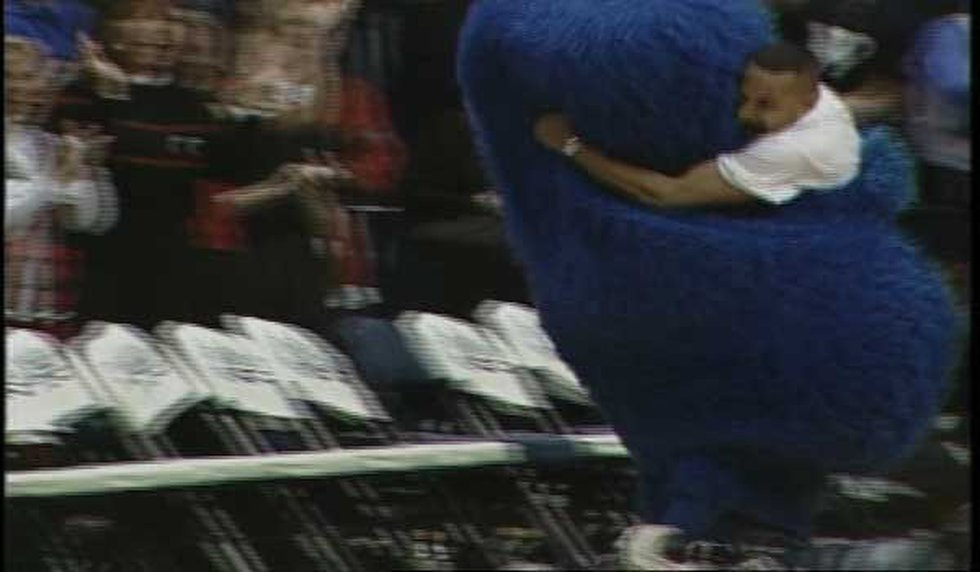 One of the iconic moments is when Theo Nelson tackled Xavier University's Blue Blob after...