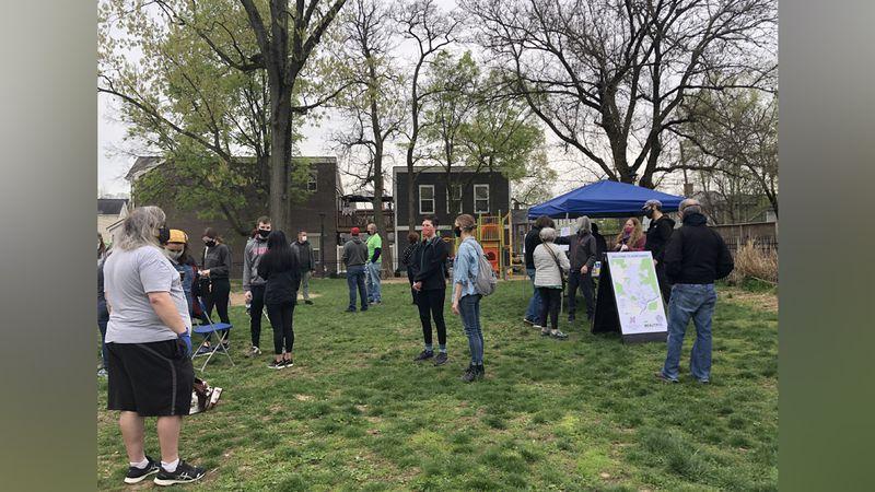 Volunteers gathered in Northside Saturday to help clean the community.