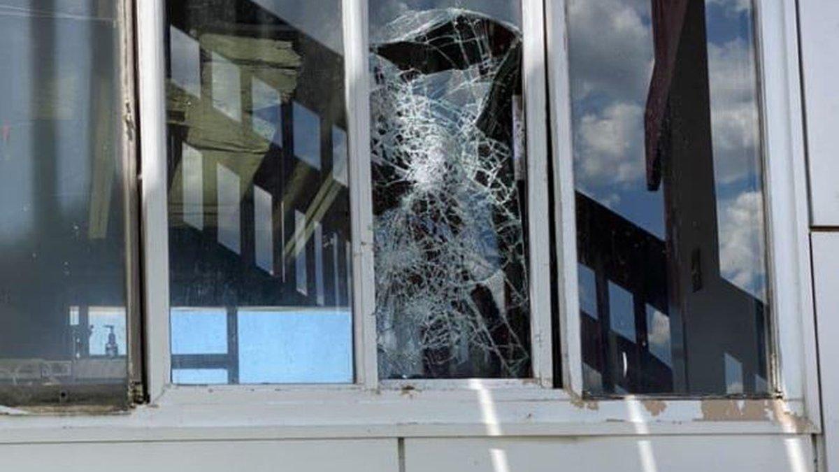 Board members found spray paint, broken windows and a damaged golf cart.
