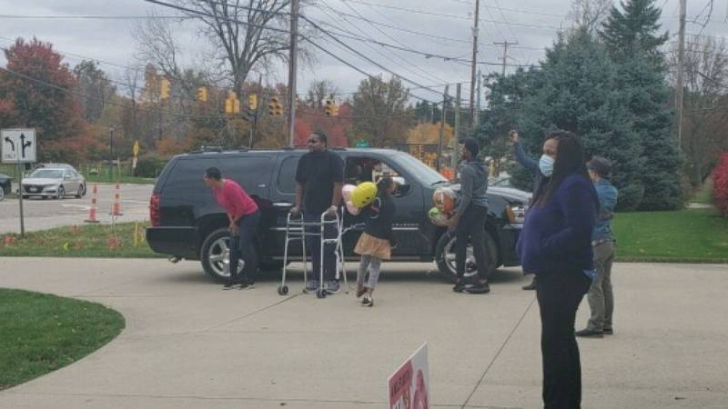 John Whorton, 42, returned home to his family in Akron after months on a ventilator battling...