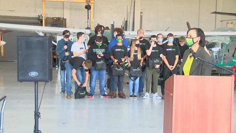 Cincinnati State teams up with Kenton County Schools to teach kids about airplane mechanics.