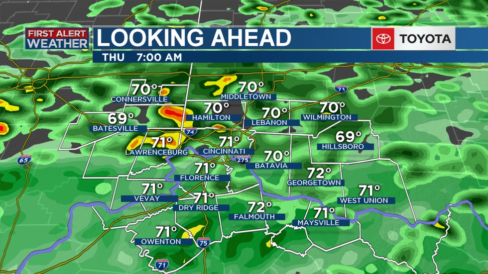 Rain is expected to blanket the Tri-State Thursday morning.