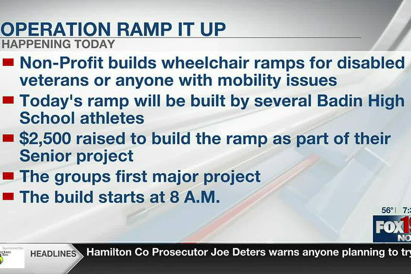 Operation Ramp It up build wheelchair ramp for Fairfield veteran