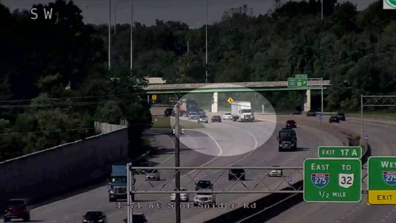 Video shows a wrong-way driver get it a mile down I-71 before police stop her