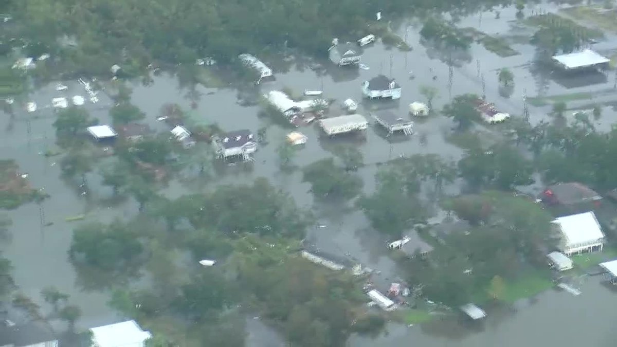 Here are aerial views of Hurricane Ida damage in Grand Isle on Tuesday, August 31, 2021.
