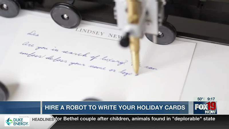 """""""Handwrytten"""" - Robot Writing for your Christmas Cards"""