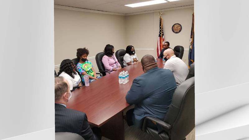 Kentucky Attorney General Daniel Cameron met with members of Breonna Taylor's family.