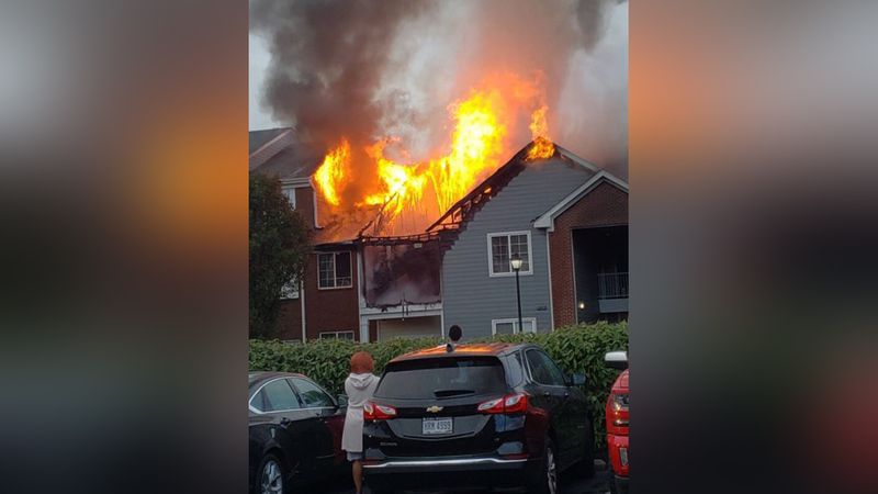At least a dozen people were evacuated after a fire occurred at the Landings apartment complex...