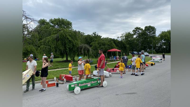 People gathered Sunday at Ault Park in Mt. Lookout for the fiftieth anniversary of the Soap Box...