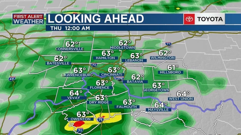 Rain continues into Thursday.