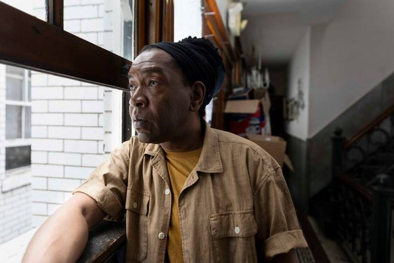 Skip Williams poses for a portrait at Court View Apartments on West Court Streeet in Downtown,...