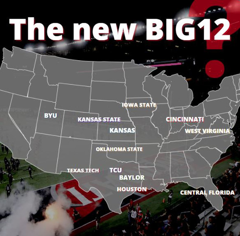 Conference realignment could result in a Big 12 conference without a unified geographical...