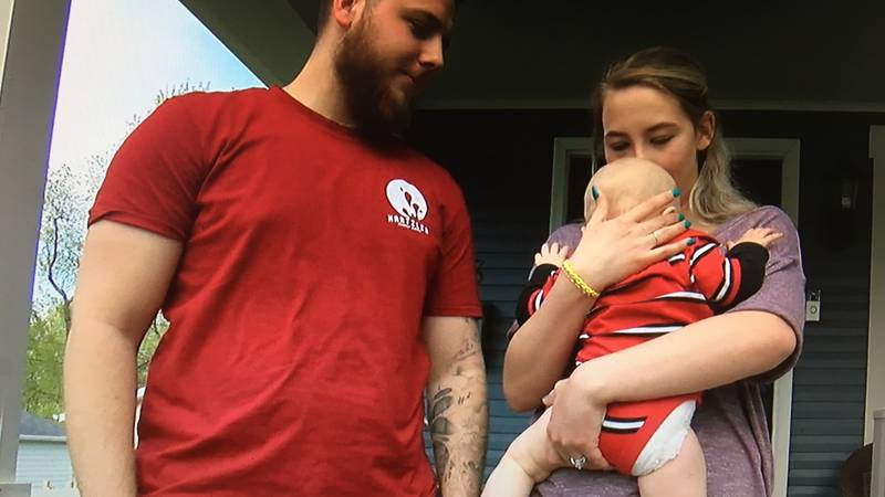 A Rittman couple is relieved that their 7 month old baby boy Zeke is safe following an...