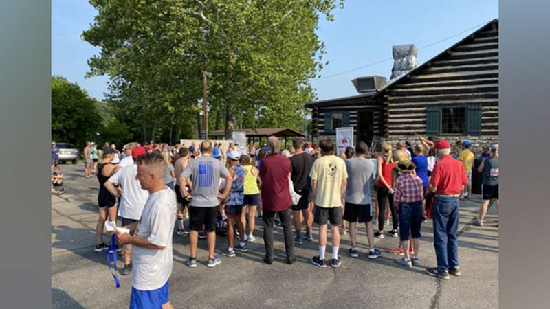 Greendale, IN kicked off their Fourth of July celebrations with a 5K run Sunday morning.