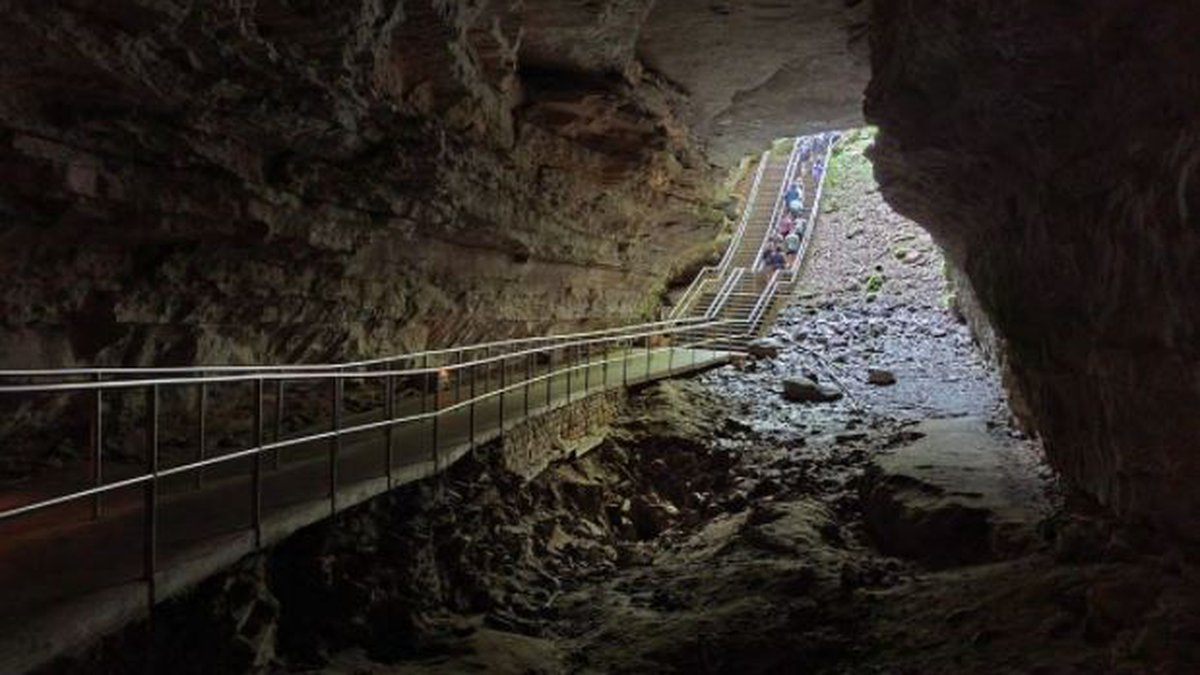 Mammoth Cave National Park is now 420 miles long after the discovery of eight new miles of...