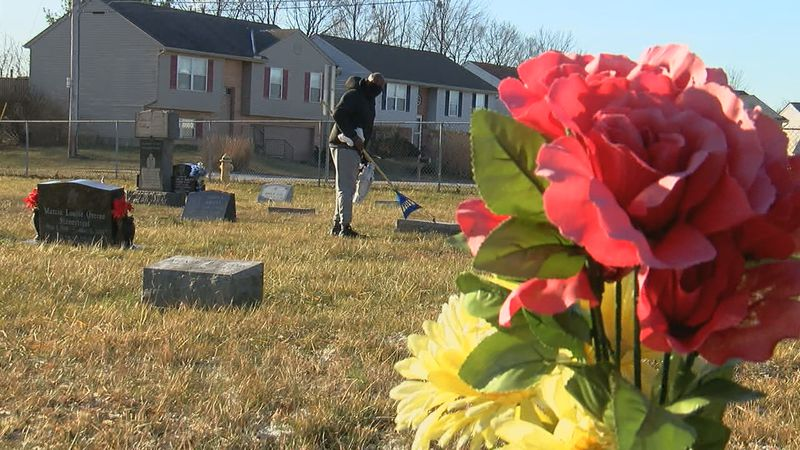 Volunteers helped cleanup the Mary E. Smith Memorial Cemetery Saturday.