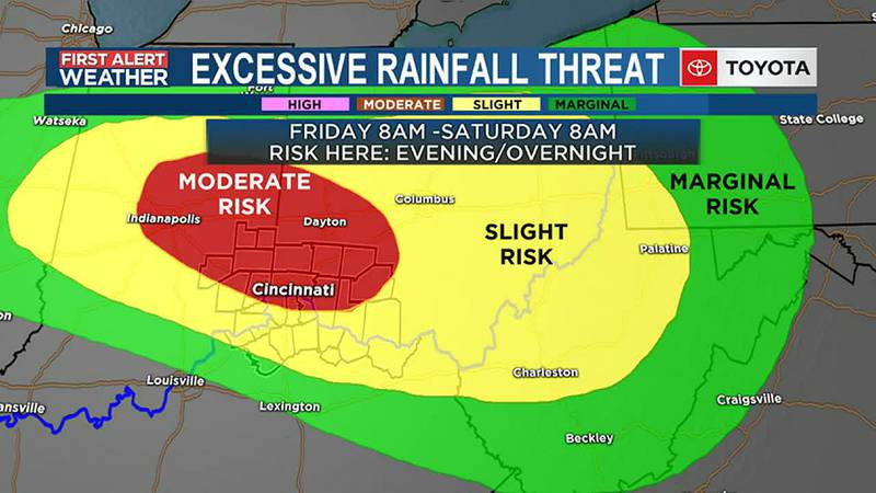 Severe Storms and Flooding Possible Fri Evening into Saturday Noon