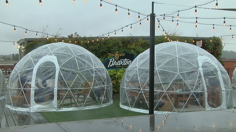 Braxton Brewing Co. adds rooftop igloos for winter months as pandemic restricts seating