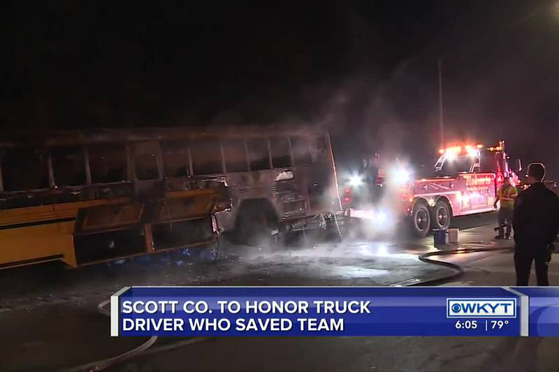Scott County to honor 'hero' who helped students during bus fire