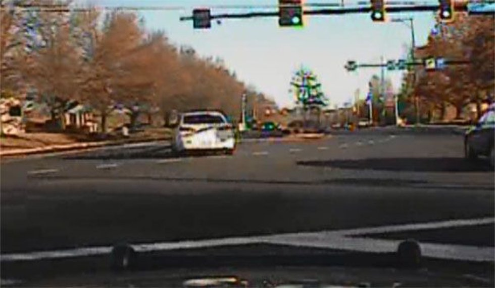 Dashcam footage shows the pursuit of the police cruiser and the Peter Smeriglio's vehicle...