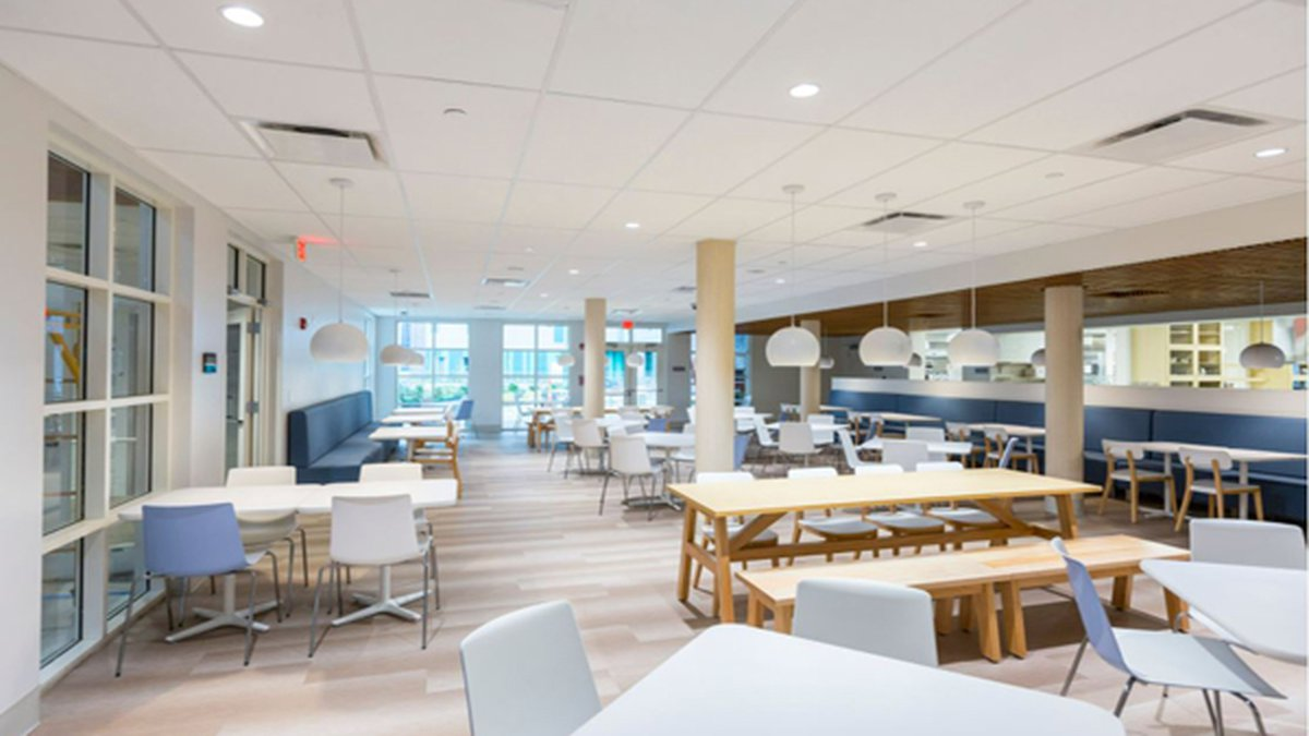 Construction workers expanded the kitchen at the Ronald McDonald House.