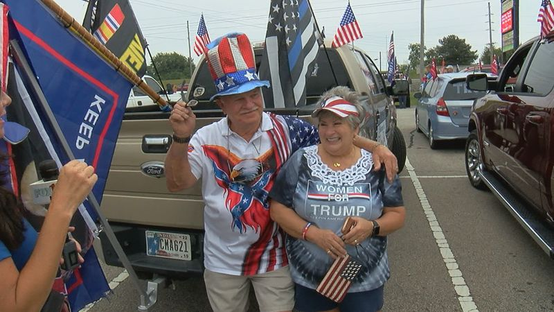 Thousands gathered Saturday morning for a 'rolling rally' in support of President Trump.