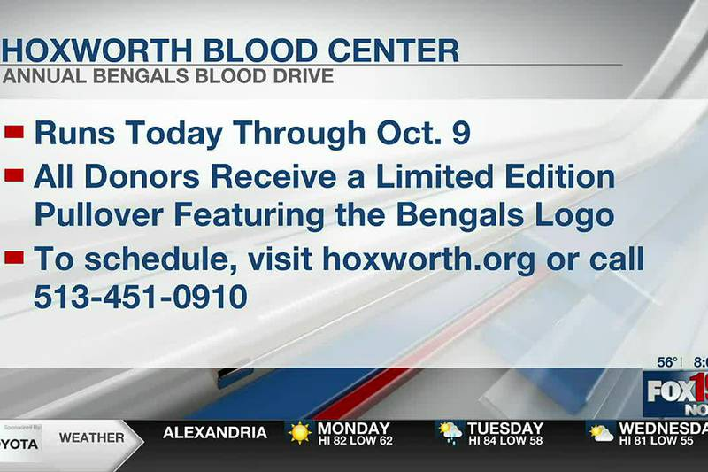 Donors needed for annual Bengals Blood Drive