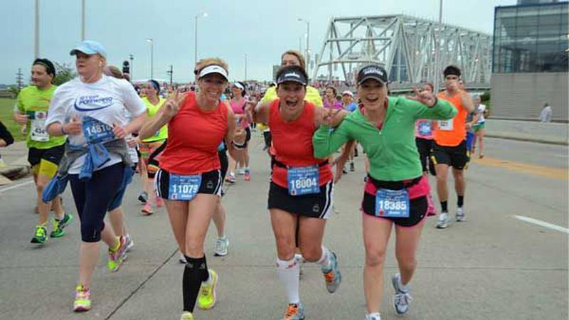 Women participate in the Flying Pig Marathon. File photo provided by Flying Pig Marathon.