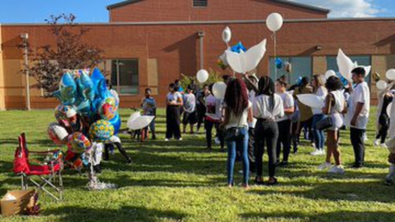 The loved ones of Chance Gilbert held a vigil and balloon release at Riverview Elementary to...