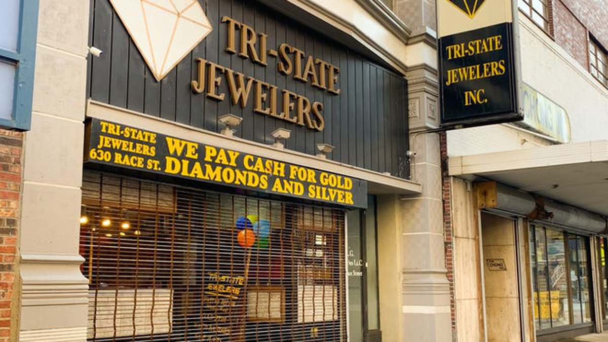 Tri-State Jewelers at 630 Race Street, Downtown, was raided by federal agents in November 2019.