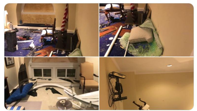 Sen. Sherrod Brown shares pictures of Jan. 6 aftermath inside U.S. Capitol