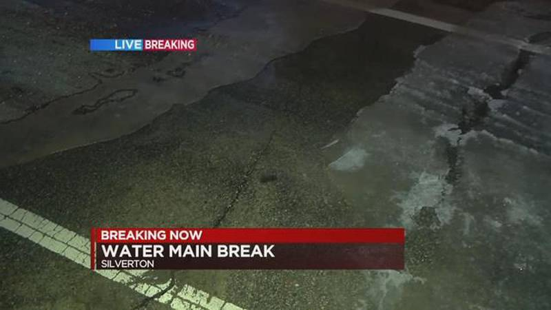 Water main break closes road in Silverton