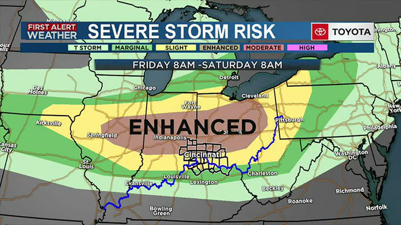 Friday - Alert Day - Severe Storms Possible Late