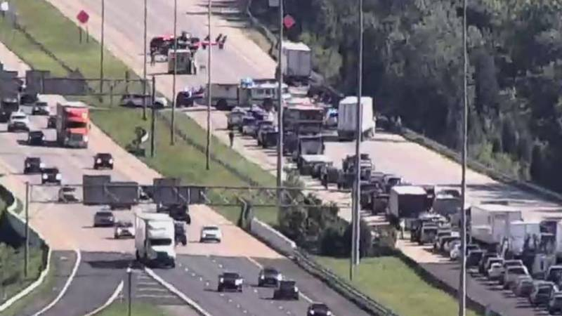 Crash in Clermont County involving a semi and a pickup truck that has resulted in one death.