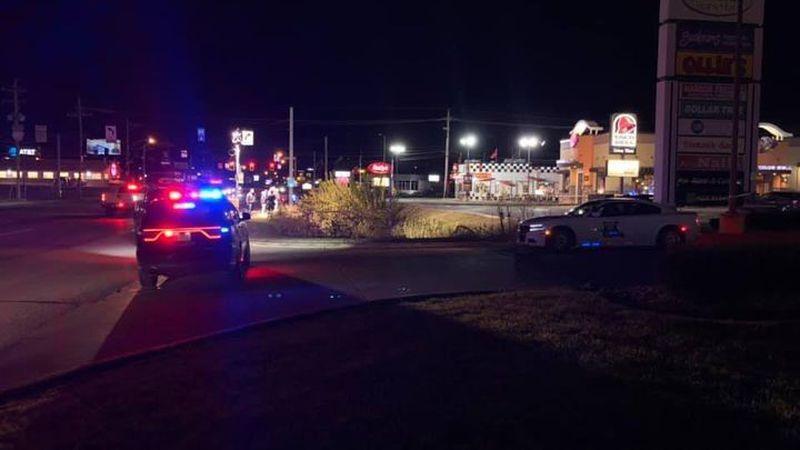 Police said the man was armed with a handgun and ran from the officers across Tipton Street and...