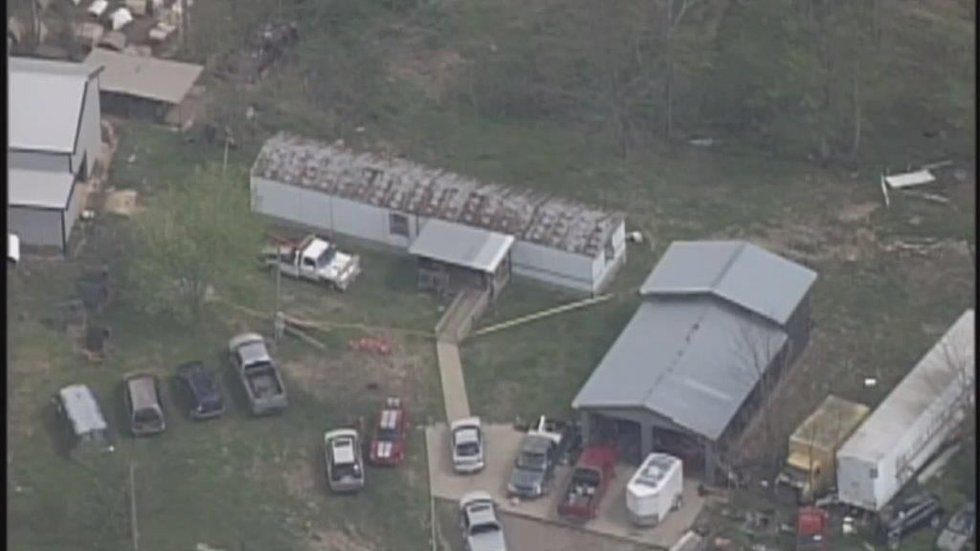 An aerial view of the trailers before they were relocated. (FOX19 NOW)
