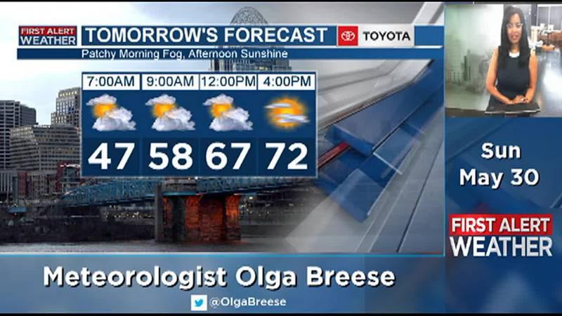 Olga Breese's Sunday Evening & Overnight Forecast