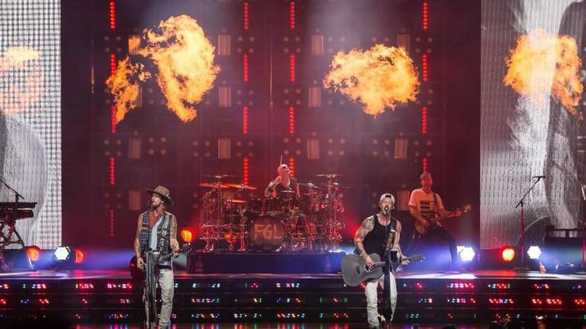 Brian Kelley and Tyler Hubbard of Florida Georgia Line confirm their tour is being canceled due...