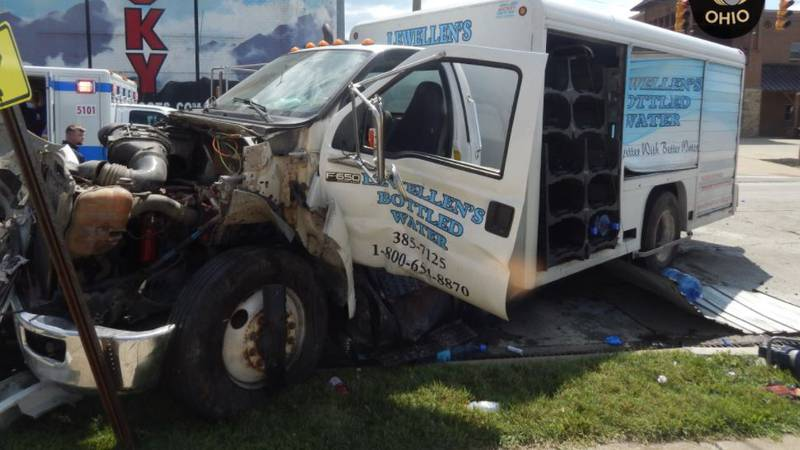 A Nelsonville Police Department cruiser and a box truck collided on Tuesday afternoon in a...