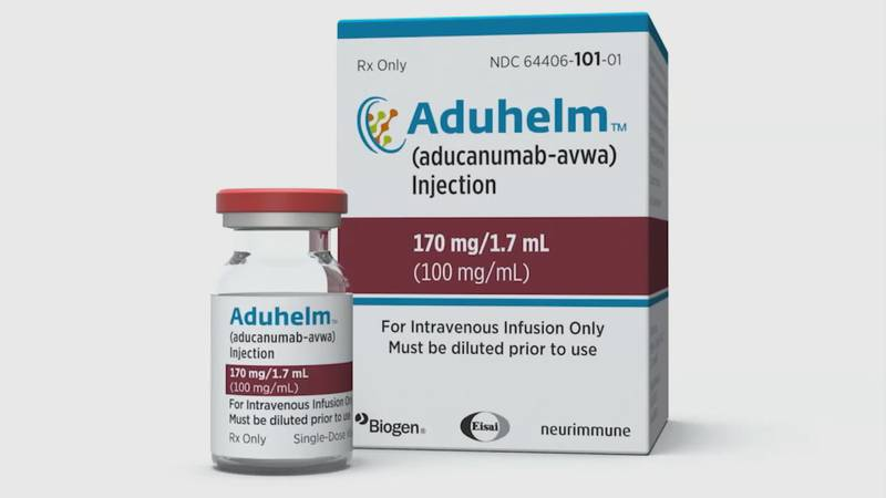 The new drug Aduhelm which combats Alzheimer's.