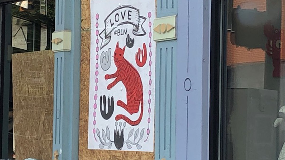 OTR Art on Boards shares message of solidarity for protests in Cincinnati.