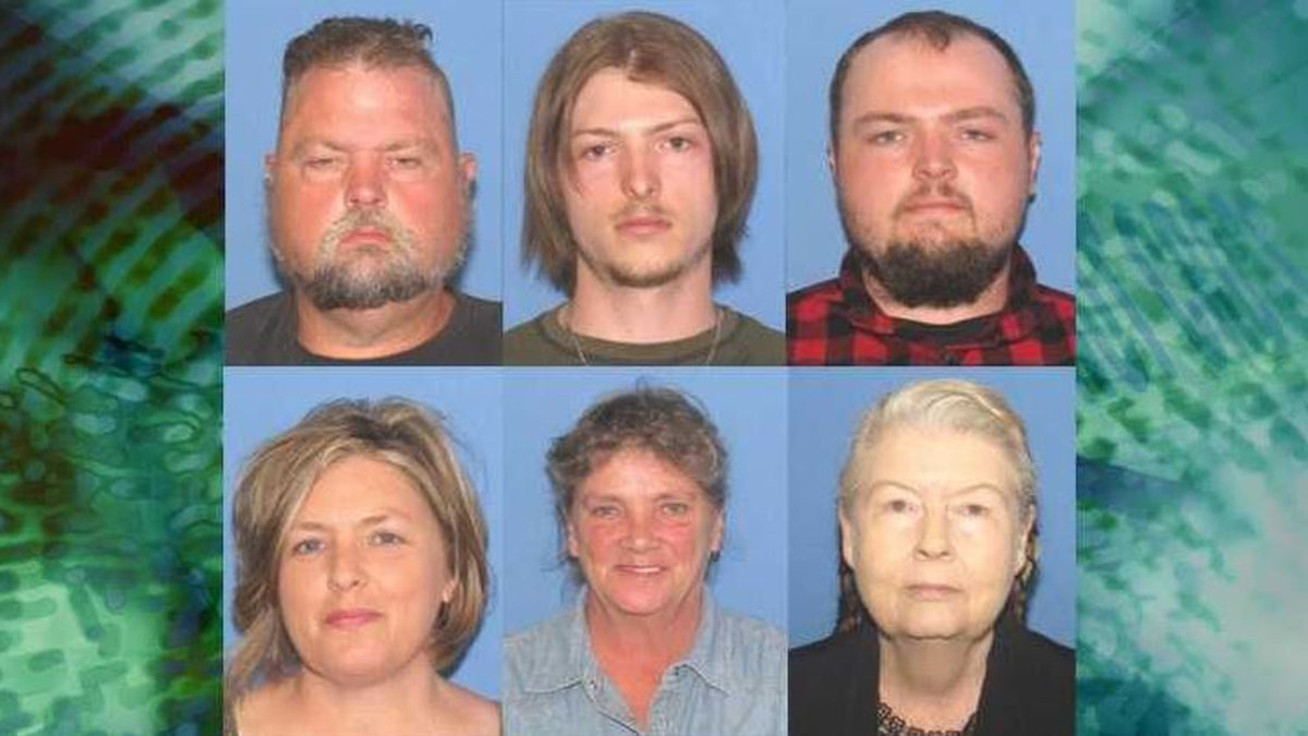 Six charged in connection to the Rhoden family massacre.