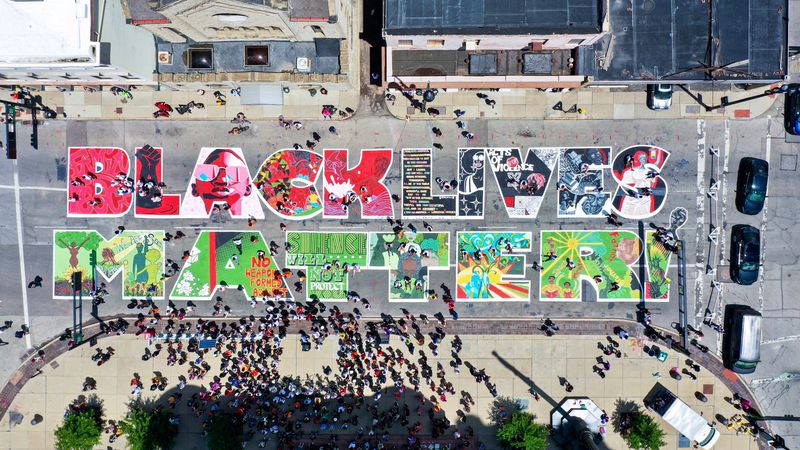 The City of Cincinnati unveiled its new 'Black Lives Matter!' mural in 2020. A year later,...