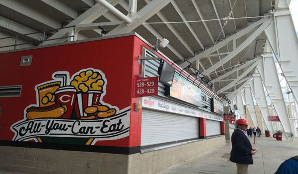 The new All-You-Can-Eat stand (FOX19 NOW Photo/Nathan Vicar)