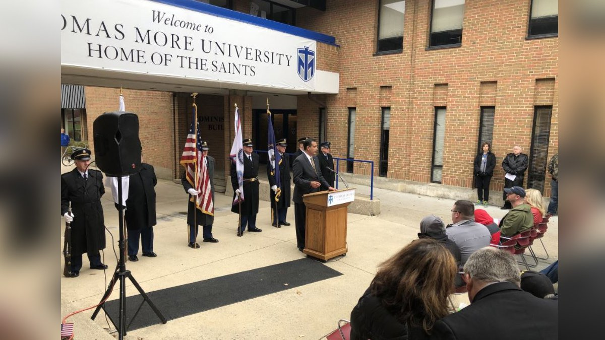 Thomas More University honors veterans with the grand opening of a veterans space.