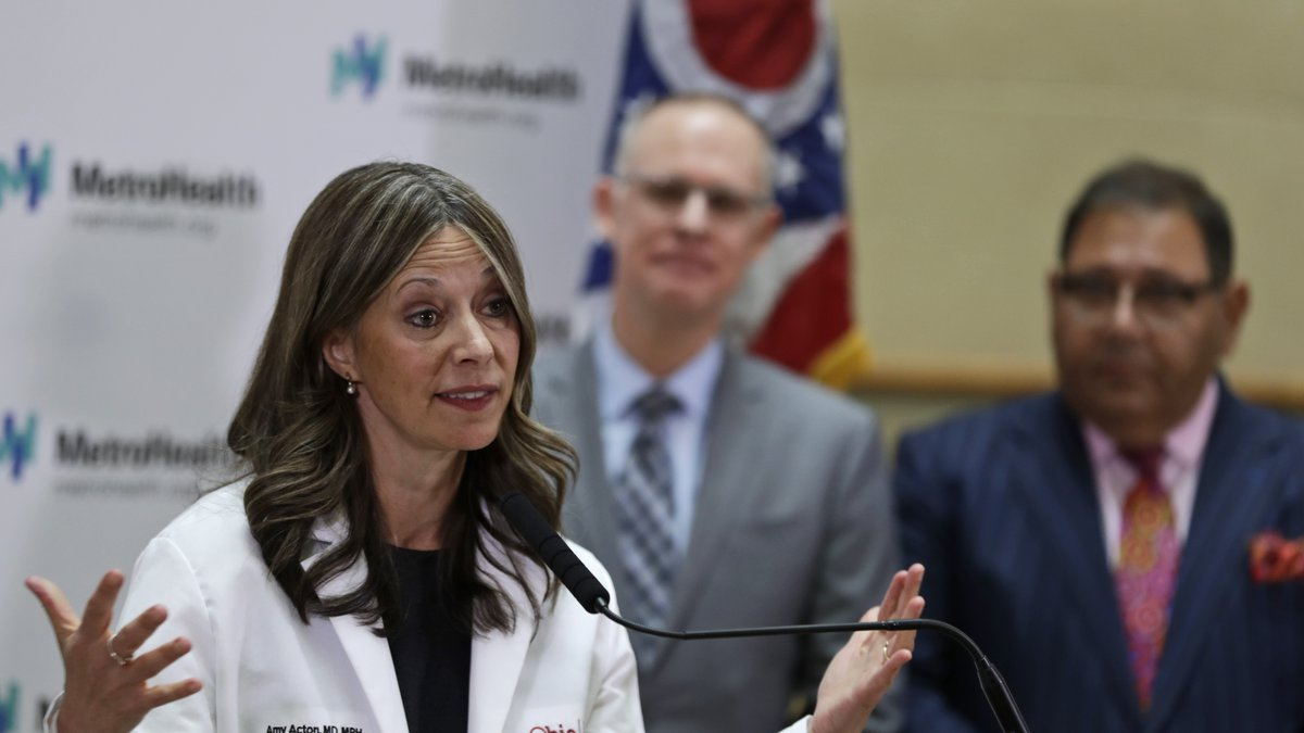 Ohio Department of Health Director Amy Acton gives an update at MetroHealth Medical Center...