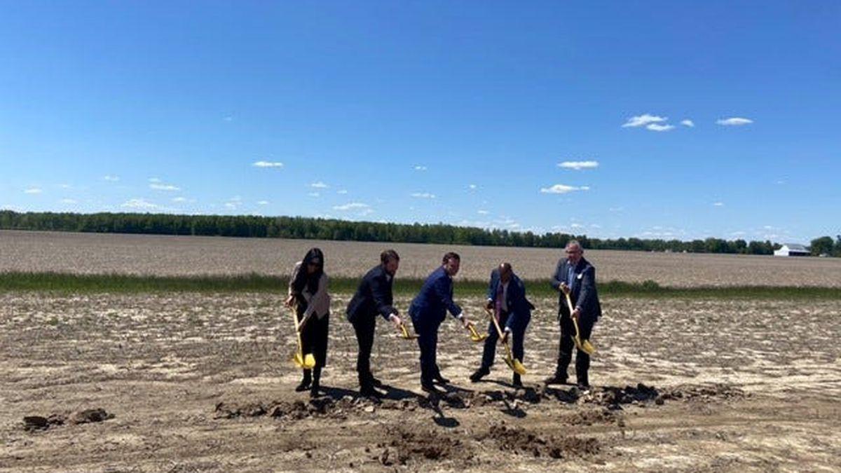 Cincinnati and energy company officials break ground on a new solar array in Highland County,...