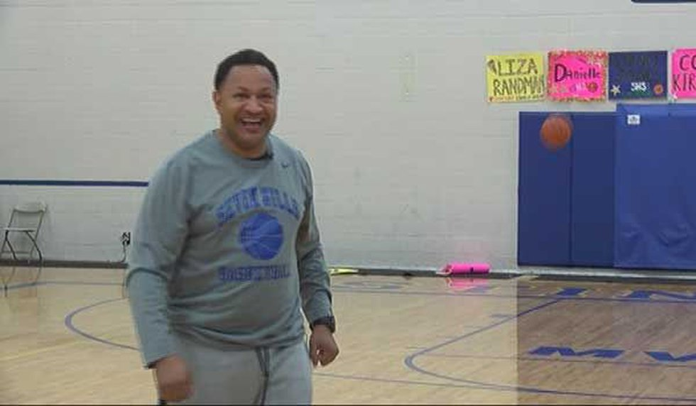 Theo Nelson hits another half court shot for FOX19 NOW (Photo: FOX19 NOW/Brett Hoffland)