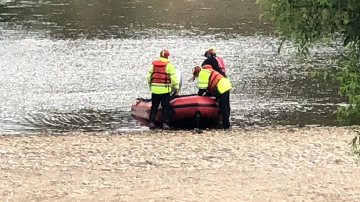 Officials say the 47-year-old's body was found around 1 p.m. Saturday.